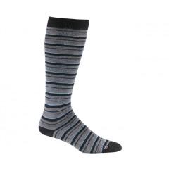 Black - Fox River Knee High Striper Merino Wool Socks