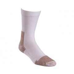 Steel Toe White Crew Length Work Socks