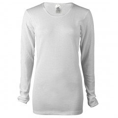 White - Indera Mills Women's 100% Cotton Long Thermal Underwear Top for Women