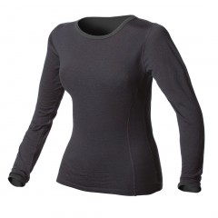 100% Pure Merino Wool Light-Weight Crew Neck Long Underwear Top for Women