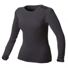 100% Pure Merino Wool Expedition-Weight Crew Neck Long Underwear Top for Women