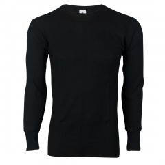 Black - Indera Mills 100% Cotton Medium Weight Waffle Knit Mens Thermal Shirts for Men