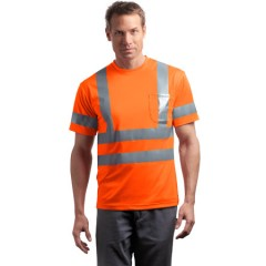 CornerStone ANSI Class 3 Short Sleeve Snag-Resistant Reflective T-Shirt for Men