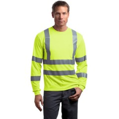 CornerStone ANSI Class 3 Long Sleeve Snag-Resistant Reflective T-Shirt for Men