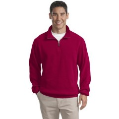 Port Authority Flatback Rib 1/4-Zip Pullover for Men