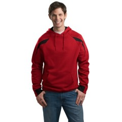 Sport-Tek Color-Spliced Pullover Hooded Sweatshirt for Men