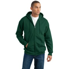 Hanes Ultimate Cotton Full-Zip Hooded Sweatshirt for Men