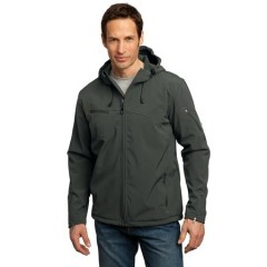 Port Authority Textured Hooded Soft Shell Jacket for Men