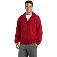 Sport-Tek Hooded Raglan Jacket for Men
