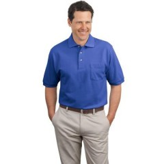Port Authority Pique Knit Polo with Pocket for Men