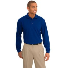Port Authority Signature Rapid Dry Long Sleeve Polo for Men