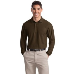 Port Authority Long Sleeve Silk Touch Polo for Men