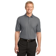 Port Authority Silk Touch Tipped Polo for Men