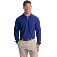 Port Authority Long Sleeve EZCotton Pique Polo for Men