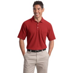 Port Authority EZCotton Pique Pocket Polo for Men
