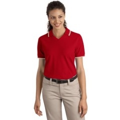 Port Authority Signature Cool Mesh Polo with Tipping Stripe Trim for Women