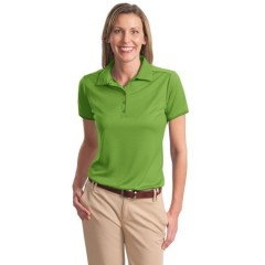 Port Authority Poly-Bamboo Charcoal Birdseye Jacquard Polo for Women