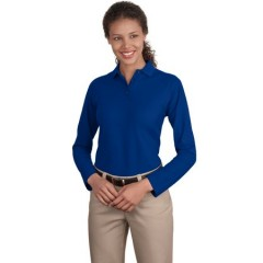 Port Authority Long Sleeve Silk Touch Polo for Women