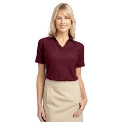 Port Authority Silk Touch Piped Polo for Women