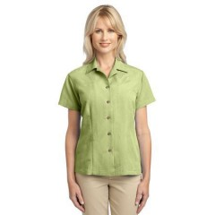 Port Authority Patterned Easy Care Camp Shirt for Women
