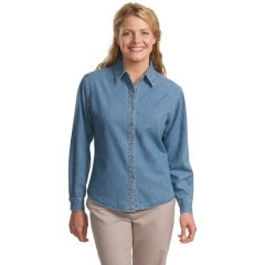 Port Authority Long Sleeve Denim Shirt for Women