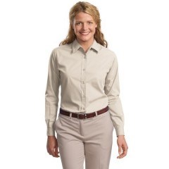 Port Authority Long Sleeve Easy Care Soil Resistant Shirt for Women