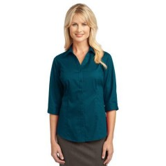 Port Authority 3/4-Sleeve Blouse for Women