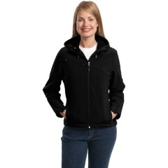 Port Authority Textured Hooded Soft Shell Jacket for Women