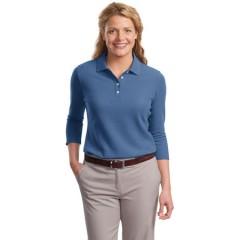 Port Authority EZCotton Pique 3/4-Sleeve Polo for Women