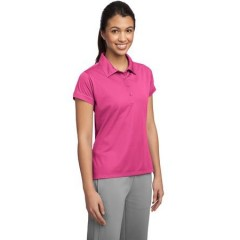 Sport-Tek Contrast Stitch Micropique Sport-Wick Polo for Women
