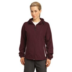 Sport-Tek Colorblock Hooded Jacket for Women