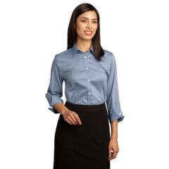 Red House 3/4-Sleeve Non-Iron Pinpoint Oxford for Women