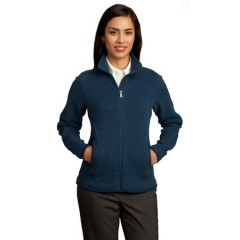 Red House Sweater Fleece Full-Zip Jacket for Women