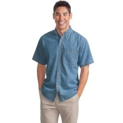 Port Authority Short Sleeve Denim Shirt for Men