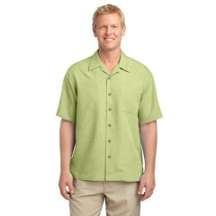 Port Authority Patterned Easy Care Camp Shirt for Men
