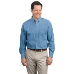 Port Authority Long Sleeve Denim Shirt for Men