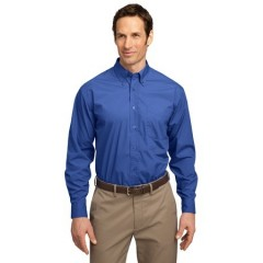 Port Authority Long Sleeve Easy Care Soil Resistant Shirt for Men