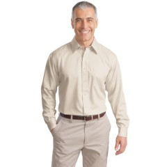 Port Authority Long Sleeve Non-Iron Twill Shirt for Men