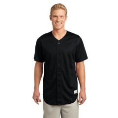 Sport-Tek PosiCharge Tough Mesh Full-Button Jersey for Men