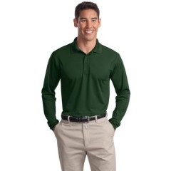 Sport-Tek Long Sleeve Micropique Sport-Wick Polo for Men
