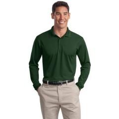 Sport-Tek Long Sleeve Micropique Sport-Wick Polo for Men