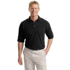 Port Authority Tall Pique Knit Polo for Men