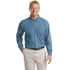 Port Authority Tall Long Sleeve Denim Shirt for Men