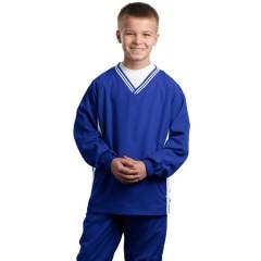 Sport-Tek Tipped V-Neck Raglan Wind Shirt for Youth