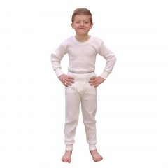 Indera Mills Waffle Knit Cotton Poly Blend Boys Long Underwear Set for Boys