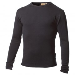 100% Pure Merino Wool Medium-Weight Crew Neck Long Underwear Top for Men