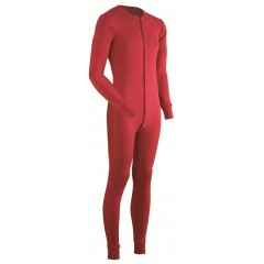Coldpruf Merino Wool Blend Red Union Suit Long Johns for Men