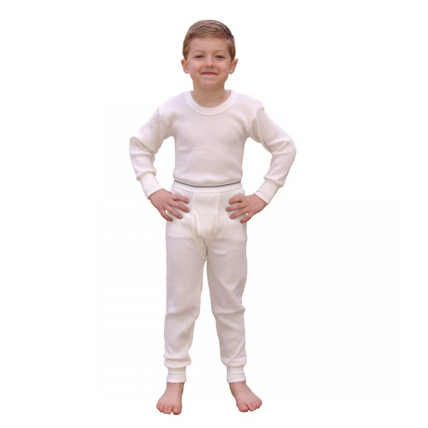 Indera Mills Waffle Knit Cotton Poly Blend Boys Long Underwear Set ...