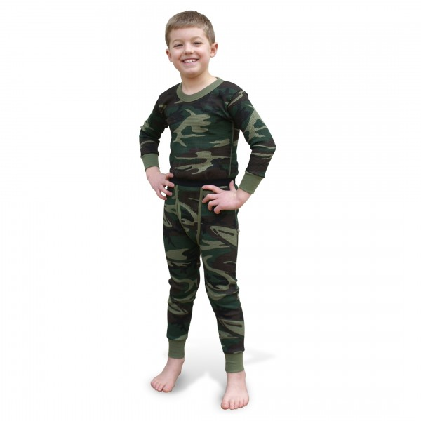 b8443df7d937 Indera Mills Woodland Camo Boys Long Underwear Set for Boys