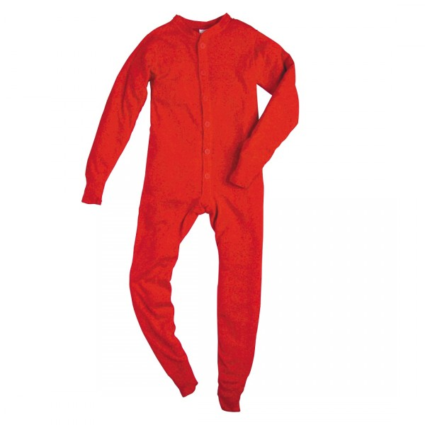 Indera Mills Union Suit Long Johns Cotton Polyester Blend for Youth